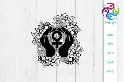 Nourish Femininity Symbol Svg File