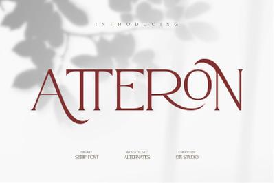 Atteron-Elegant Serif Font