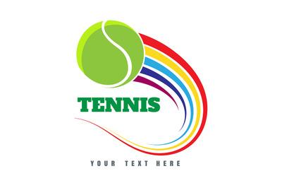 Colorful Tennis logo