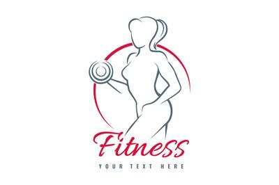 Fitness Logo isolated on White Background