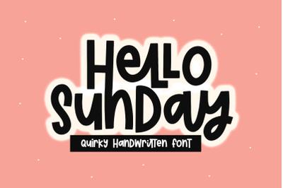 Hello Sunday - Fun Handwritten Font