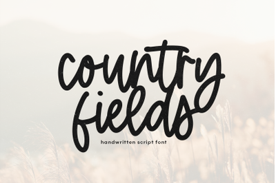 Country Fields - Handwritten Script Font