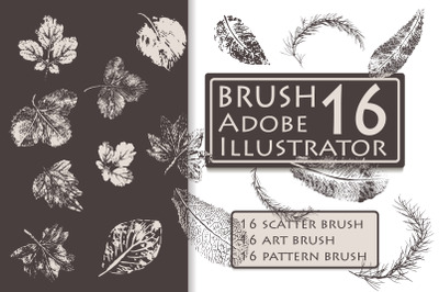 Leaf Stamp Brushes for Adobe Illustrator
