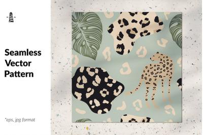 Abstract cheetah seamless pattern