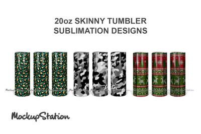 30oz Skinny Tumbler Sublimation Design PNG Bundle