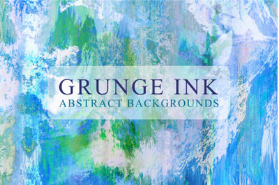 Grunge Ink Textured Watercolor Papers