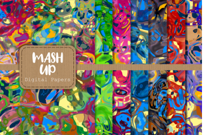 Funky Abstract Mash Up Digital Papers