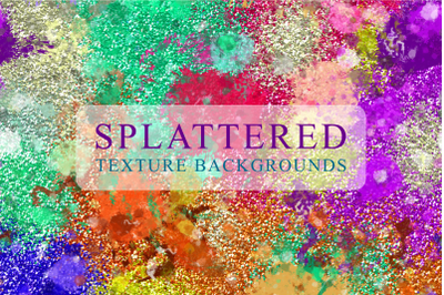 Splattered Grunge Paint Texture Papers