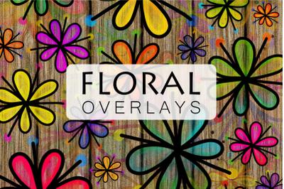 Pretty Doodle Daisy Flower Overlays