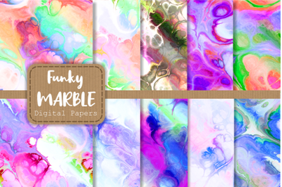 Totally Funky Digital Marble Paper Set 3