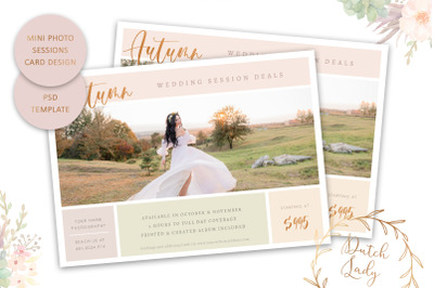 PSD Photo Session Card Template #71