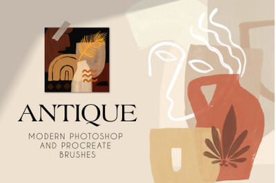 Antique - Photoshop & Procreate Stamp Brushes