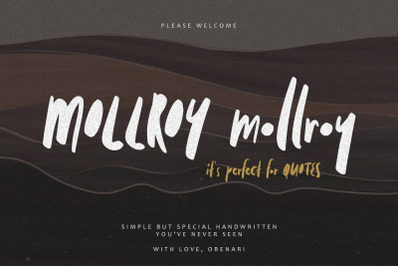 Mollroy ~ Perfect for Quotes
