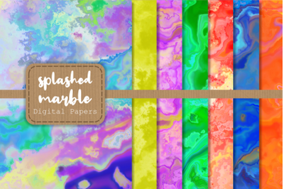 Artistic Splashed Marble Digital Papers