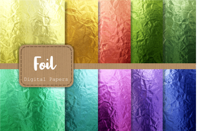 Rainbow Metal Foil Luxury Digital Papers