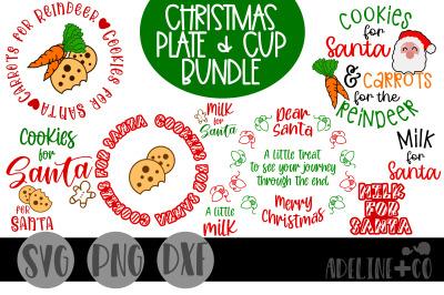 Christmas plate and cup bundle