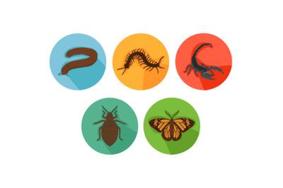 Scorpion Friends Cartoon Animals Icon Bundle