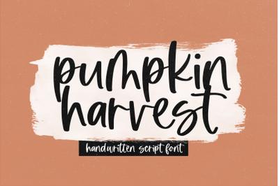 Pumpkin Harvest - Modern Script Font