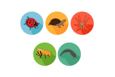 Bee Friends Cartoon Animals Icon Bundle