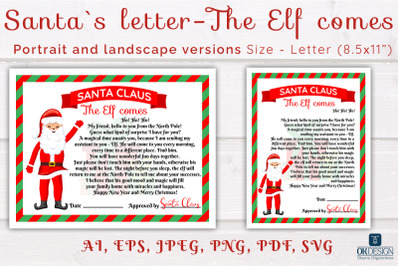 Christmas Santa Letter about Elf SVG.