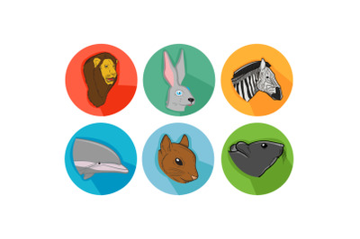 Dolphin Friends Cartoon Animals Icon Bundle
