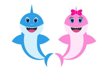 Baby shark Svg, girl Shark clipart, pink shark svg, cricut file, boy s