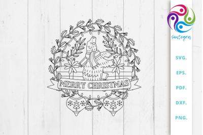 Merry Christmas Mandala Svg File