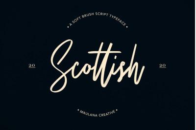 Scottish Brush Script Typeface