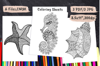 Coloring Book Pages PDF&2C; JPEG
