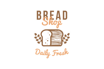 bread bakery logo, symbol, label, badge vector with wheat ornament