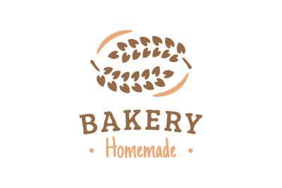 bread bakery logo, symbol, label, badge vector with wheat ornament.