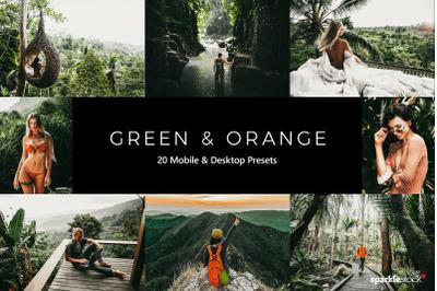 20  Green and Orange LR Presets