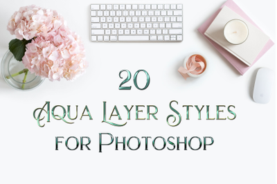 20 Aqua Layer Styles for Photoshop