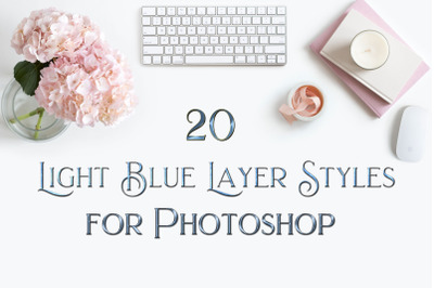 20 Light Blue Layer Styles for Photoshop