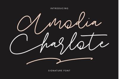 Amodia Charlote Signature Font
