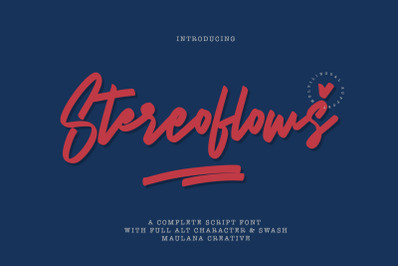Stereoflows Font