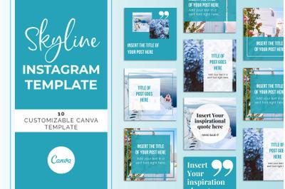 Skyline Instagram Canva Template