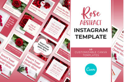 Rose Abstract Instagram Canva Template