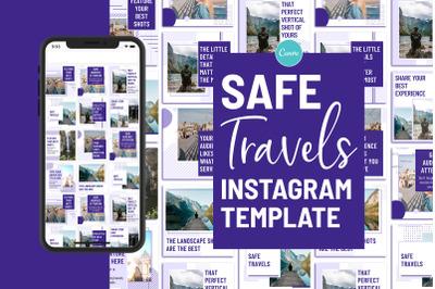 Safe Travels Instagram Canva Template
