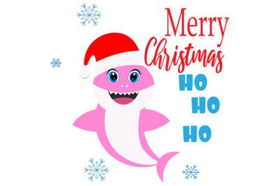 Christmas Shark SVG Cut Files Merry Christmas Svg, Baby shark Svg, gir