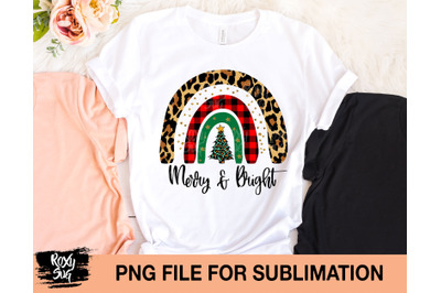 Merry and Bright sublimation design