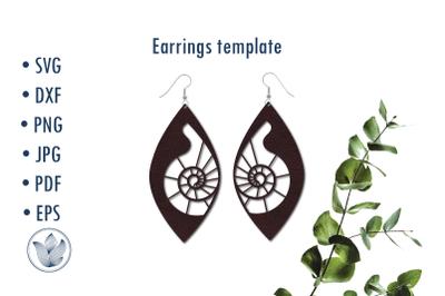Earrings template svg, Halloween, snail design, cut file