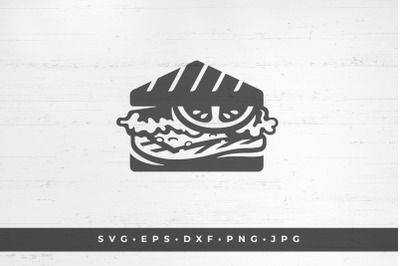 Sandwich icon isolated on white background vector illustration. SVG, P