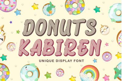 Donuts Kabiren - Quirky Craft Font