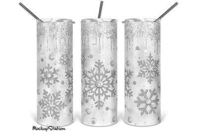 Christmas 20oz Skinny Tumbler Sublimation Design PNG