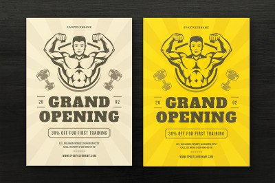 Fitness & Gym Sports Flyer Template