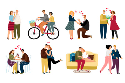 People in love set