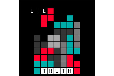 Truth and lie concept illustration