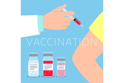 Vaccination concept illustration