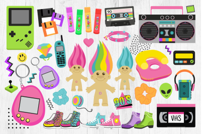 90s Clipart, Nineties, Retro, VHS, PNG